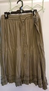 Cute Olive Green Colored Skirt